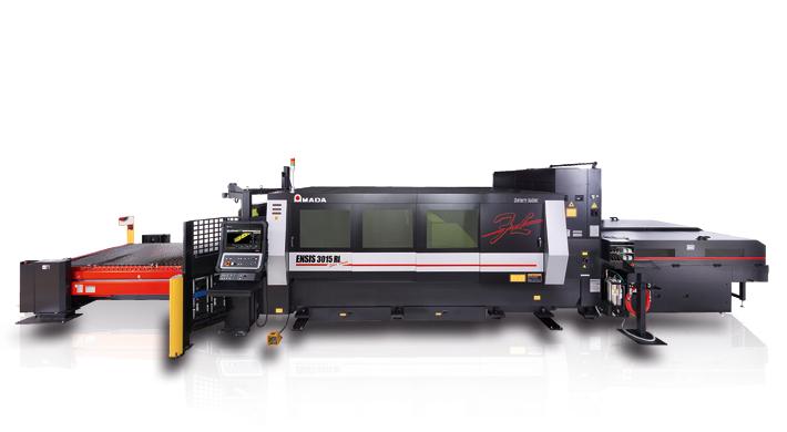 Sicherheit und Flexibilität auch für kleine Losgrößen: die Faserlaserschneidanlage AMADA ENSIS-3015 RI.