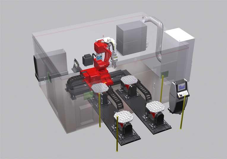 Das neue Wechseltischsystem mit zwei Tischen macht die neue FLW-3000ENSIS M5 noch leistungsstärker.