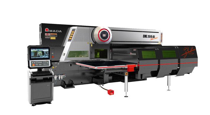 Die neue AMADA EML-2515AJ (oben) ist das gelungene Round-up in der Stanz-Faserlaser-Kombinationstechnologie mit einer gesteigerten Bearbeitungsgeschwindigkeit und der perfekten Performance für alle Anwendungsbereiche.