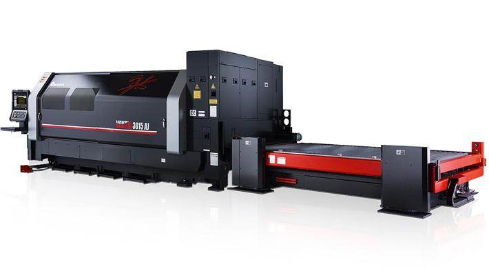 Die AMADA VENTIS-3015AJ mit 4-kW-Laser punktet besonders hinsichtlich Produktivität und Kosteneffizienz.
