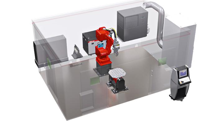 Die AMADA FLW-3000 ENSIS M2 bietet den idealen Einstieg in die Faserlaser-Schweißzellentechnologie.