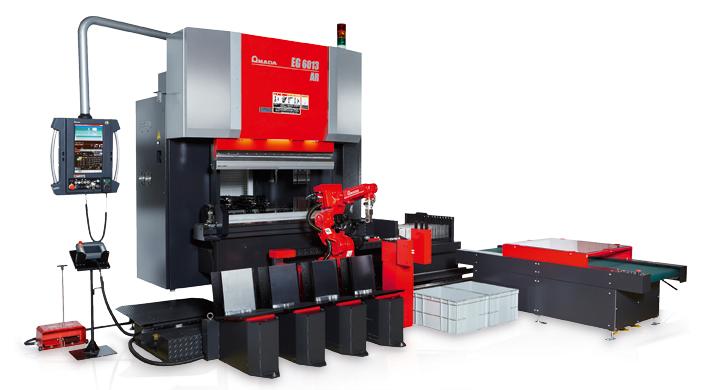 Für die vollautomatisierte Fertigung: die AMADA EG-6013AR.